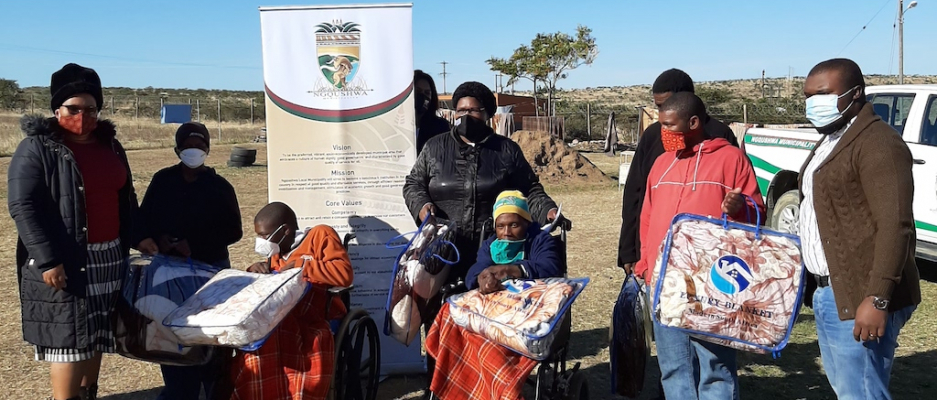 Ngqushwa Local Municipality handing over 74 blankets to Nomzamo Special Care Centre for the disabled